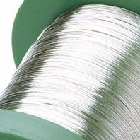 1M Sterling Silver Round Wire 0.6mm 22 Gauge